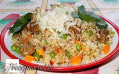 Csirkemáj rizottó recept fotóval
