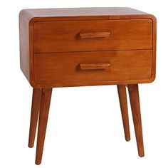 Porthos Home Emorie Double-Drawer Mid-Century End Table, Natural -- You can find more details by visiting the image link. (This is an affiliate link) #KitchenTableIdeas