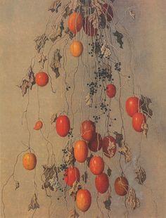 Yajuro Takashima(高島野十郎 Japanese 1890-1975)Karasuuri   からすうり