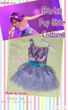 Barbie Pop Star's Costume, handmade by Anne Tam
