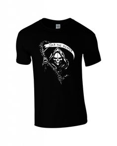 Mens FEAR THE REAPER T-shirt. Inspired by Sons of Anarchy. Purchase for £12.99 at cashclothingonline.co.uk