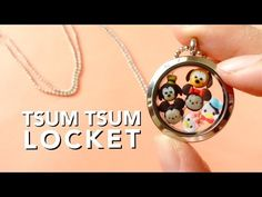Tiny Polymer Clay Tsum Tsums in a Locket Tutorial