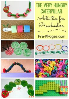 25 Activities for The Very Hungry Caterpillar. Hands-on Activities for your Preschool or Kindergarten Kids to make learning fun!  Literacy, math, art, crafts and more! - Pre-K Pages
