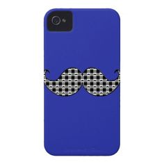 Retro Mustache Moustache Stache Case-Mate iPhone 4 Case