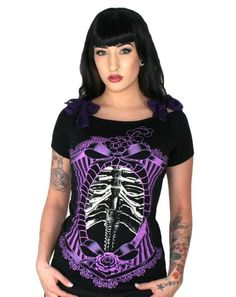 Too Fast Ribcage Cameo Annabel Shirt