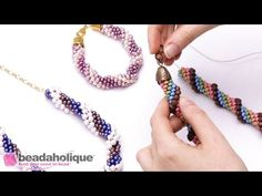 How to Finish Beaded Crochet Rope Ends and Attach a Clasp - YouTube