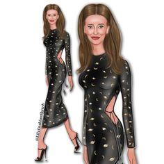 28 отметок «Нравится», 2 комментариев — Fashion Illustrator (@lilyfashionsketch) в Instagram: «Emma Roberts @emmaroberts in cosmic dress by Alexandra O'Neil ✨ ______________________________…»