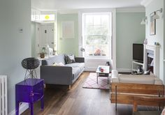 Two bedroom Victorian terraced house in North London #Mint living room