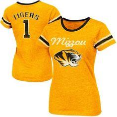 Missouri Tigers Women's Galaxy II Slim Fit T-Shirt - Gold