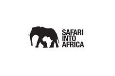 """Safari Into Africa logo"" This logo exemplifies Gestalt principle through closure and proximity"