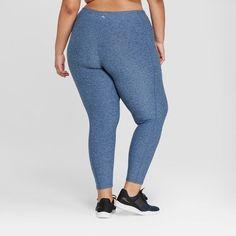 fb5d0f09129ba0 Women's Plus Size High Waist 7/8 Color Block Leggings - JoyLab Dark Denim  Blue 1X