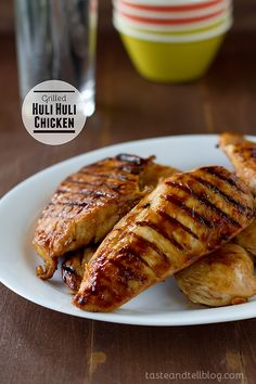 Grilled Huli Huli Chicken - the early days of fall are nearly here, but its still great weather for grilling. This delicious Hawaiian recipe is perfect.  A quick marinade to assemble, a few minutes on the grill, and a simply delicious dinner is ready - leaving more of my minutes for grabbing onto the end of summer.