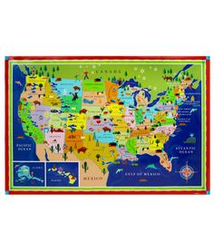 For the boys room from my favorite store. THIS LAND IS YOUR LAND KIDS' MAP | Children's USA Wall Map | UncommonGoods