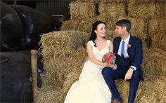 Got haybales at your wedding?! You need a photo on them!