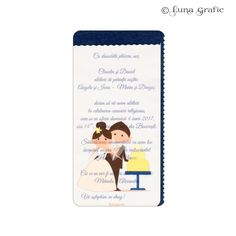 """Invitatii de nunta handmade """"Miri"""" Invitatie in 3 straturi de hartie. Pentru suport am folosit un carton sidefat, textul este printat pe un carton texturat, iar modelul de suprafata este realizat pe hartie de calc. Plicul este, de asemenea, in ton cu invitatia si fabricat din carton texturat. El este inclus in pret si se livreaza impreuna cu invitatia propriu-zisa. Pentru ca totul sa fie perfect alegem impreuna culoarea si tipul cartonului astfel incat sa aveti un set de invitatii unice!"""