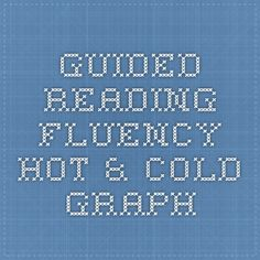 Guided Reading Fluency Hot & Cold Graph