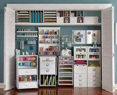 Cheap Craft Room Storage and Organization Furniture Ideas 12 - DecoRewarding - Cheap Craft Room Storage and Organization Furniture Ideas 11 - Recollections Craft Room Storage, Space Crafts, Home Crafts, Craft Space, Diy Crafts, Sewing Crafts, Closet Storage, Locker Storage, Storage Room