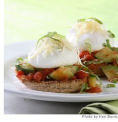 Eggs Italiano- a lovely brunch or an elegant light supper when served with a fresh green salad.
