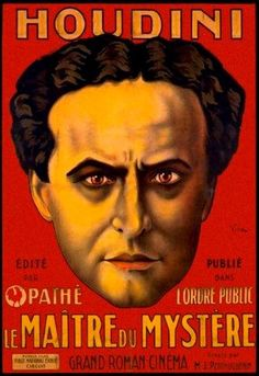 Houdini Magic Show Ad French Vintage Poster Reproduction Free s H | eBay