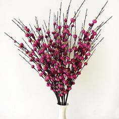 """10 pieces 29.5"""" Long of Plum Blossom Blooms artificial Flowers Spray"""