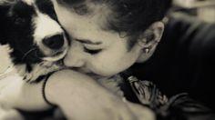 Me with my dog. Me + Jackie