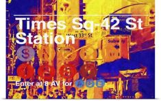 Philippe Hugonnard Poster Print Wall Art Print entitled Times Square 42st Station, NYC Painting Series, None