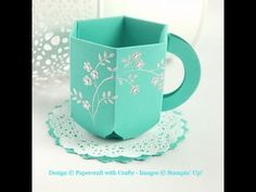 Envelope Punch Board Teacup - YouTube