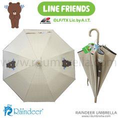 ร่มยาว 18 นิ้ว SET A1 สีเนื้อ Sticker Line Umbrella (ร่มสติ๊กเกอร์ไลน์) Line id: rdumbrella หรือ portrain www.rdumbrella.com