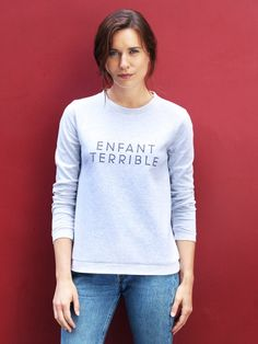 Le sweat femme - Enfant Terrible - gris chiné EMOI EMOI - Photo