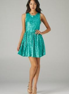 Mint Sleeveless Sequin Dress with Open Back Detail,  Dress, open back dress  sequin dress, Chic