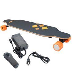 USA STOCK Remote Electronic Motorized 4 Wheel Long board electric skateboard Cruiser //Price: $287.64//     #gadgets