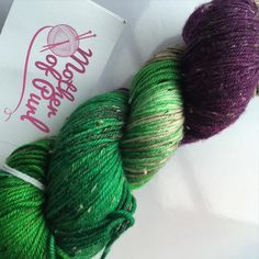 This beauty is going out today for Julie to accompany her blackberry combo she already has. She's got fab plans for a shawl with these three skeins and I can not wait to see it!! #motherofpurl #knitstagram #knittersofinstagram #yarndyer #dyedbyme #merinowool