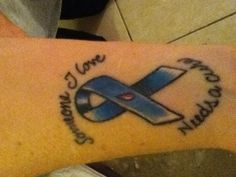 My Mothers tatt for her 9yo granddaughter Jordan Sky P. who fights the fight everyday! Hope for a cure Type 1 Diabetes!