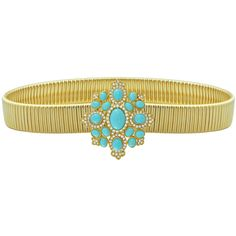 Kenneth Jay Lane Turquoise Crystal Belt (€425) ❤ liked on Polyvore featuring accessories, belts, stretch belt, kenneth jay lane, swarovski crystal belt, hook belt and stretchy belts