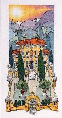 Secret Garden - Designed by Michael Powell.  Scroll down page to see free cross stitch chart