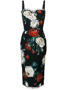 a2f4dbdd2a1 Dolce   Gabbana Floral Print Bustier Dress - Farfetch