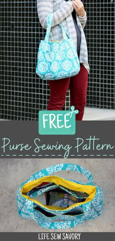 Free wallet sewing patternSew this super cute and practical wallet from a free sewing pattern. My rating of the Swoon Free Purse Pattern.Clean the seams by hand - 6 stitch types are created - - Diy Purse Patterns, Quilted Purse Patterns, Easy Sewing Patterns, Patchwork Bags, Wallet Sewing Pattern, Bag Pattern Free, Diy Sewing Projects, Sewing Tutorials, Sewing Hacks