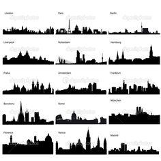 rome skyline silhouette - Google Search