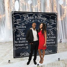 Create memories with our Wedding Chalkboard Photo Background.