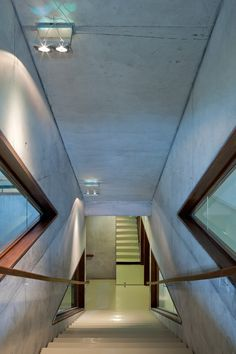 Neighbourhood centre of L'Arbrisseau in Lille - Main staircase - picture ©Paul Raftery - Visit our website : www.cfa-arch.com #aluminium #wood #concrete #SocialCentre #lille