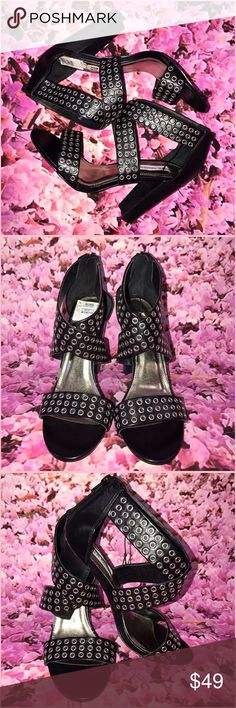 💐Madden💐 Brand new ankle wrap studded spring dream? Omg I love thick heels on sandals. Super chic with all the added flare!. Order up👍 Steve Madden Shoes Sandals