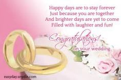Inspirational Wedding Wishes Messages Enjoy Pleasures Togetherness Brings Life