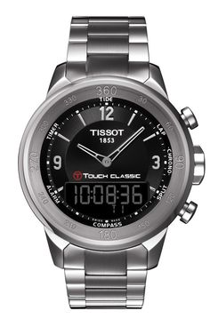 "The Tissot T-Touch Classic combines both high-technology and all-time classic style. It is ""the"" watch for the sporty gentleman. This timepiece offers multi-functionality that will provide its wearer with 11 tactile functions, from chronograph to compass, with a stunning exterior, portraying a sophisticated and classic look. This watch is made to be worn at any occasion, whether on a golf course or at a cocktail party.    REALLY LIKE SOMETHING LIKE THIS"