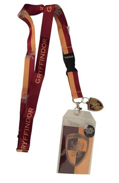 Harry Potter Gryffindor Doublesided Lanyard Keychain ID Holder & Charm & Sticker