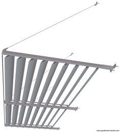 Pensilina a sbalzo con tirante idee per l 39 esterno - Tettoie a lamelle orientabili prezzi ...