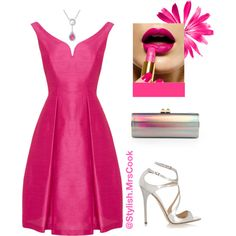 Pink by mrscclife on Polyvore featuring moda and Jimmy Choo