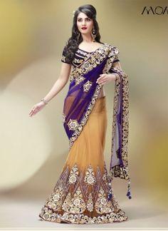 ViVid Designer lehenga saree http://www.angelnx.com/Sarees/