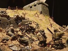 Love this 1/35th scale D-Day diorama. reminds me of Saving Private Ryan. A Daily Dose for 12may2014 from the Michigan Toy Soldier & Figure Co. www.michtoy.com