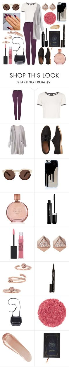 """""""Concept"""" by bella-has-a-galaxy ❤ liked on Polyvore featuring 2LUV, Topshop, Gap, Illesteva, Estée Lauder, Marc Jacobs, Maybelline, FOSSIL, Kendra Scott and Smith & Cult"""