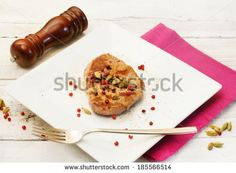 pork fillet recipe with cardamom and pink pepper - stock photo